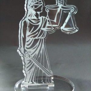 Estátua em acrílico Deusa da Justiça